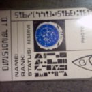 STAR TREK BADGE Starfleet Divisional I.D. reserve status VINTAGE