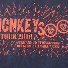 MONKEYSOOP SHIRT 2016 World Tour san antonio texas NEW L