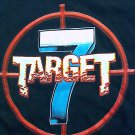 TARGET 7 SHIRT we fire when ready band logo seven 2 sided san antonio texas NEW L