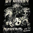 MY MISERY SHIRT dirty rats texas punk rock band gokart NEW XL
