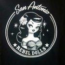 SAN ANTONIO REBEL DOLLS SHIRT official rockabilly NEW M