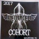 REWIRED STICKER 2017 Cohort logo texas rock metal band PROMO SALE