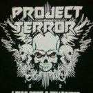 PROJECT TERROR SHIRT I was born a hellraiser heavy metal rock band texas black NEW L