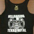 PROJECT TERROR SHIRT I was born a hellraiser heavy metal rock band texas black NEW L LADIES TANK