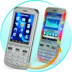 Quad Band Dual SIM Cellphone - Slim Touchscreen Mobile (Silver)