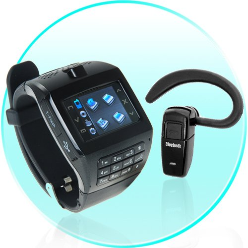 Mobile Phone Watch - 1.4 Inch Touchscreen + Keypad