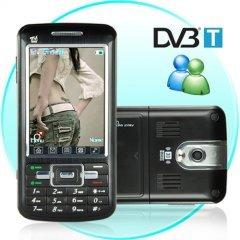 Touchscreen Dual SIM Dual Band GSM Cellphone + MSN and DVB-T