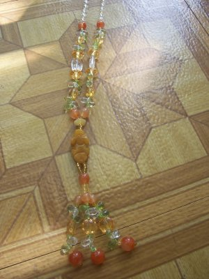 Mix Stone long necklace A5