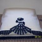 Fancy Lady Pillow Case - White/Navy