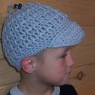 Child's Jockey Cap with removable beaded tassel - Grey