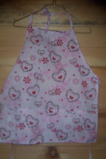 Child's Chef Apron - Hearts & Flowers