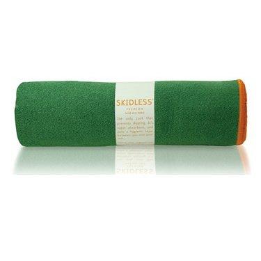 yogitoes SKIDLESS mat towel - green