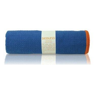 yogitoes SKIDLESS mat towel - blue