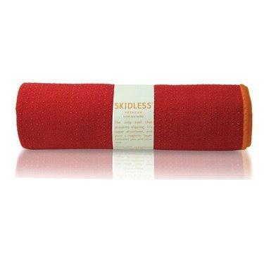 yogitoes SKIDLESS mat towel - red