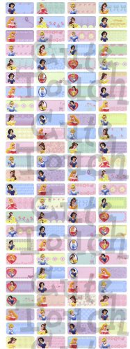 Name Labels Stickers- Princess Series
