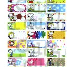 Name Labels Stickers- Snoopy Series