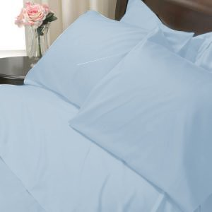 100%Egyptian Cotton Color Sky Blue 600TC Twin Solid Sheet Set