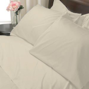 100%Egyptian Cotton Color Ivory 600TC Twin Solid Sheet Set
