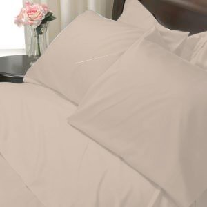 100%Egyptian Cotton Color Linen 600TC Twin Solid Sheet Set