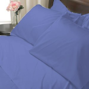 100%Egyptian Cotton Color Neavy Blue 600TC Twin Solid Sheet Set