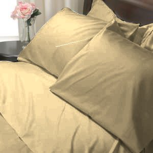 SHEET SET KING SOLID 100%Egyptian Cotton Color Beige 800TC.