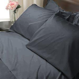 SHEET SET KING SOLID 100%Egyptian Cotton Color  Silver Black 800TC.