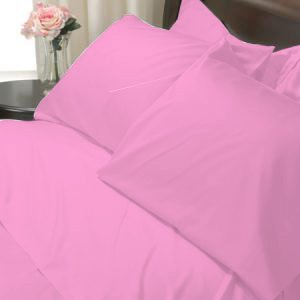 100%Egyptian Cotton Color  Apricot 1200TC Queen Solid Sheet Set