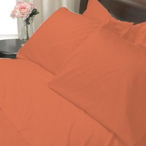 100%Egyptian Cotton Color  Clay 1200TC Queen Solid Sheet Set