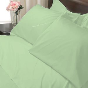 100%Egyptian Cotton Color Leaf 1200TC Queen Solid Sheet Set
