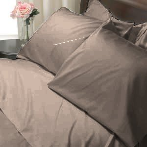 100%Egyptian Cotton Color  Mocha 1200TC Queen Solid Sheet Set