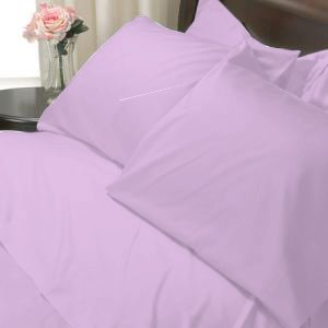 100%Egyptian Cotton Color  Orchid 1200TC Queen Solid Sheet Set