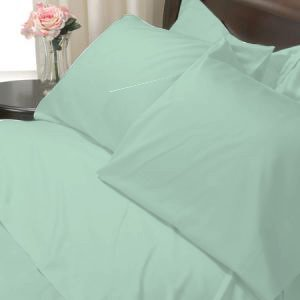 100%Egyptian Cotton Color  Sage 1200TC Queen Solid Sheet Set