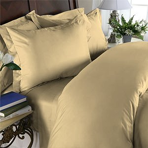 Duvet Cover With Pillow Sham 100%Egyptian Cotton Color  Beige 1000TC King Solid.