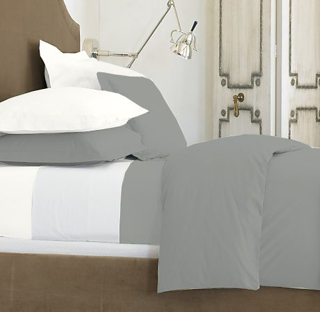 SHEET SET KING SOLID 100%Egyptian Cotton Color  Platinum 1000TC.