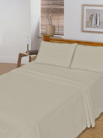 100 % Egyptian Cotton Color  Ivory 1500 TC Queen Size Solid Sheet Set.