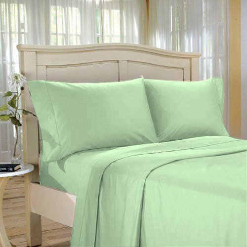 100%Egyptian Cotton Color  Leaf  1000 TC Twin Size Solid Sheet Set.