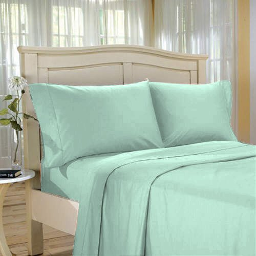 100%Egyptian Cotton Color  Sage  1500 TC Twin Size Solid Sheet Set.