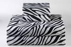 100% Egyptian Cotton, Color Zebra Print(Black & White) 1500 TC Queen Size Sheet Set.