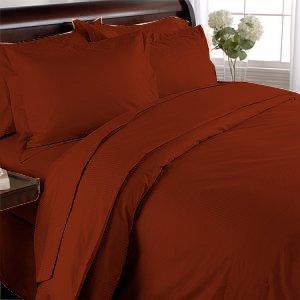 100% Egyptian Cotton, Color Burgundy TC 1500 Size Queen Duvet Cover.
