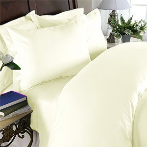 Duvet Cover With Pillow Sham Queen Solid 100% Egyptian Cotton, Color  Cameo, TC 1000.