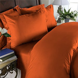 Duvet Cover With Pillow Sham Queen Solid 100% Egyptian Cotton, Color  Hazelnut, TC 600.