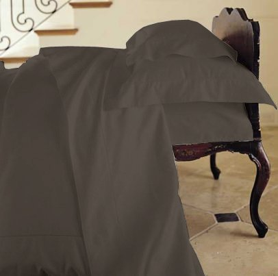 Duvet Cover Solid 100% Egyptian Cotto, Color Black, TC- 600, Size Twin.
