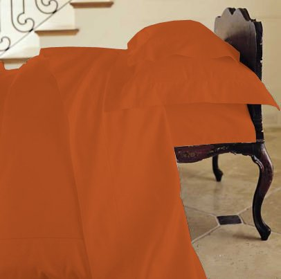 Duvet Cover Solid 100% Egyptian Cotto, Color Burgundy, TC- 600, Size Twin.
