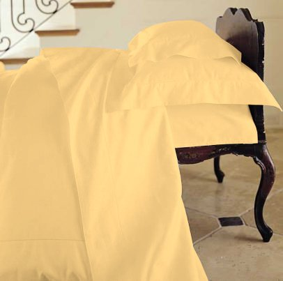 Duvet Cover Solid 100% Egyptian Cotto, Color Gold, TC- 600, Size Twin.