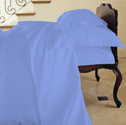 Duvet Cover Solid 100% Egyptian Cotto, Color Navy Blue, TC- 600, Size Twin.