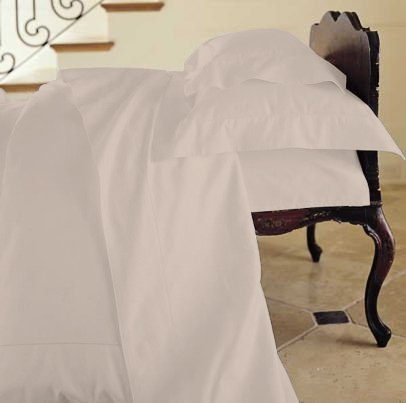 Duvet Cover Solid 100% Egyptian Cotto, Color Taupe, TC- 600, Size Twin.