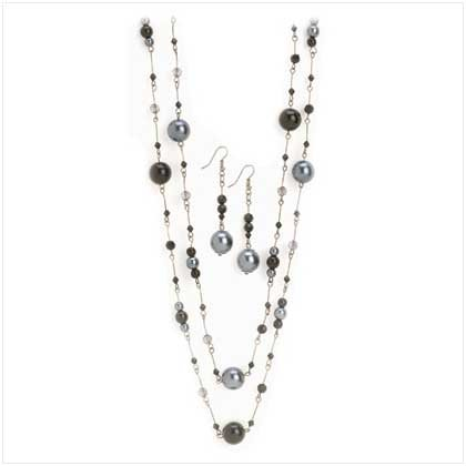 Black pearl Jewelry Set