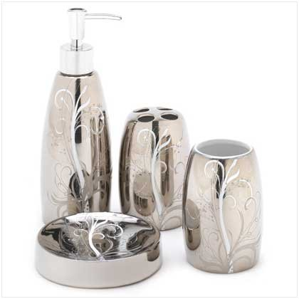 Silver Filigree Bath set