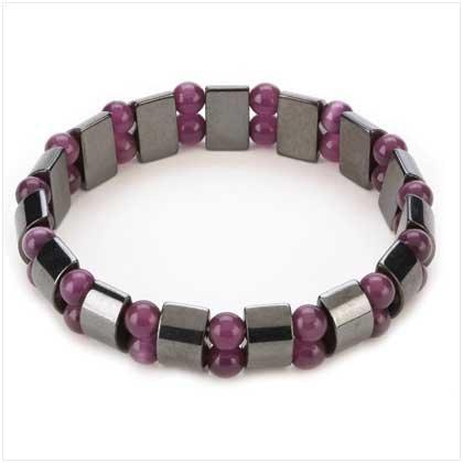 Hematite Amethyst Pearl Bracelet