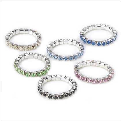 Colourful crystal Toe Rings